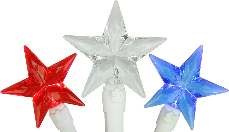 White /& Blue Celebrations- Bottle Light 4th of July string lights Patriotic lighted bottle Red