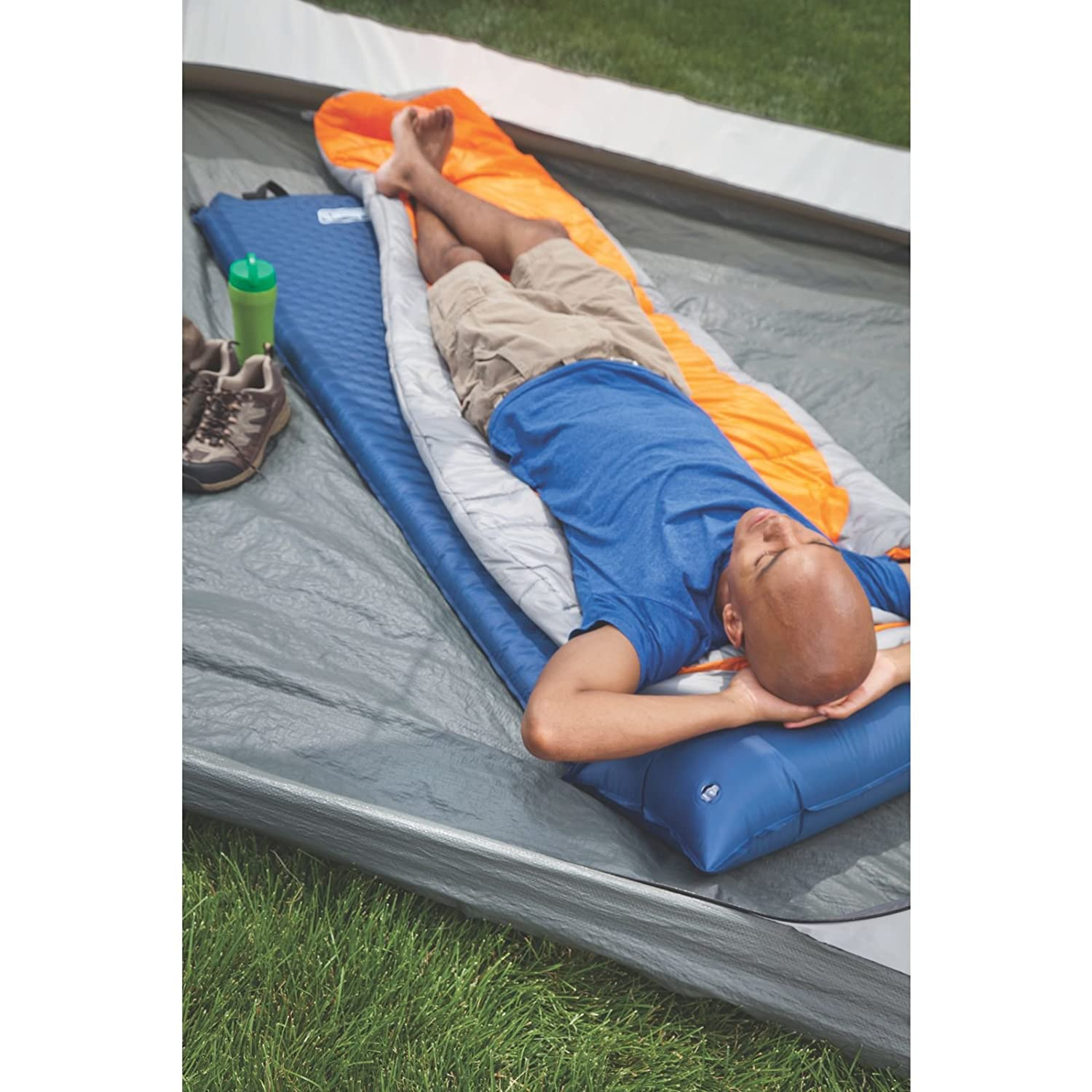 Amazon.com : Coleman Self-Inflating Camp Pad with Attached Pillow : Self  Inflating Sleeping Pads : Sports & Outdoors