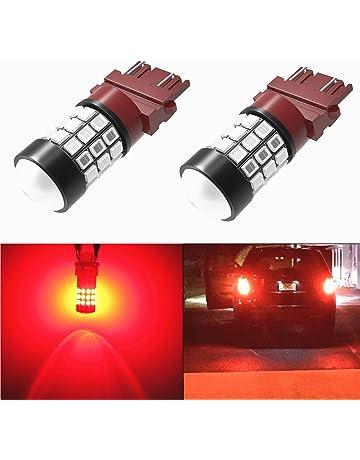 Alla Lighting 3156 3157 Red LED Bulbs Super Bright T25 3156 3057 4057 3157 LED Bulb