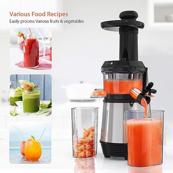 Monzana Slow Juicer Pro-Vitamine B Fruit /& Vegetable Extracteur