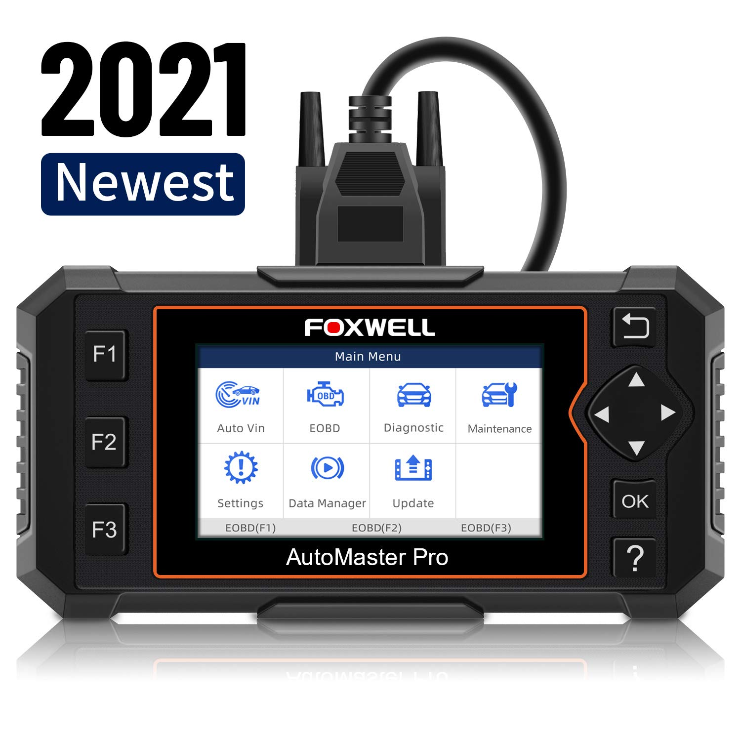 FOXWELL Car Scanner Transmission Engine ABS Airbag Diagnostic Tool, NT614 Elite Automotive Scanner with EPB/Oil Light Reset, Check Engine Car Scanner Diagnostic for All Cars(English & Spanish Ver.)