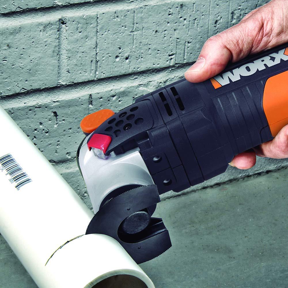 WORX WX681 Sonicrafter F50 Multifunktionswerkzeug 450w Adapter f/ür Universalzubeh/ör 35mm Standard End Cut S/ägeblatt /& 80mm HSS S/ägeblatt halbrund Multitools inkl