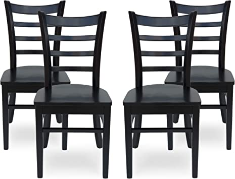 Amazon Com Christopher Knight Home Frederica Farmhouse Wooden Dining Chairs Set Of 4 Matte Black Chairs