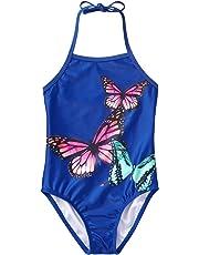 Gymboree Girls 1-Piece Butterfly Swimsuit One Piece Swimsuit - Purple