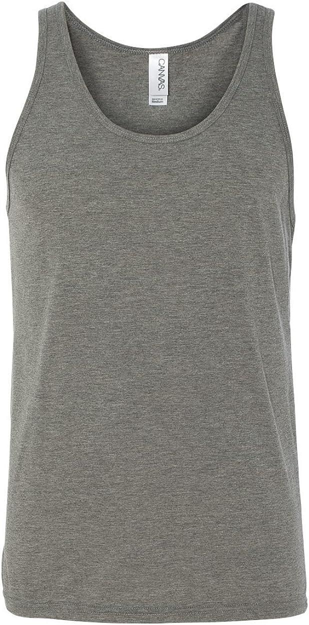 L Grey TriBlend Bella+Canvas Unisex Jersey Tank