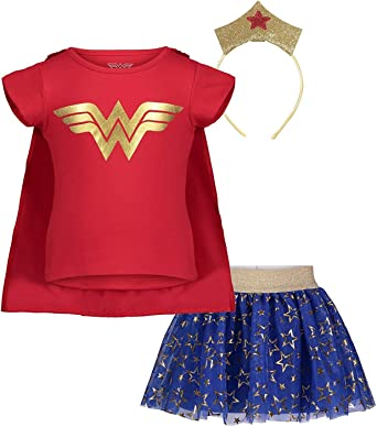 Supergirl Super Girl Costume Dress with Detachable Cape Sz 12 Mos 18 Mos 2T 4T