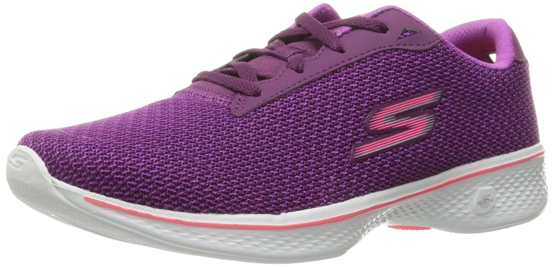 Skechers Performance Women's Go Walk 4 Lace-up Walking Shoe B01IIZAAMG 8 B(M) US|Purple/Pink