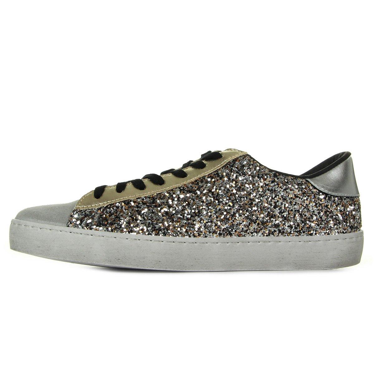 Victoria Deportivo Glitter Contraste, Zapatillas para Mujer 37 EU Dorado (Platino 594)