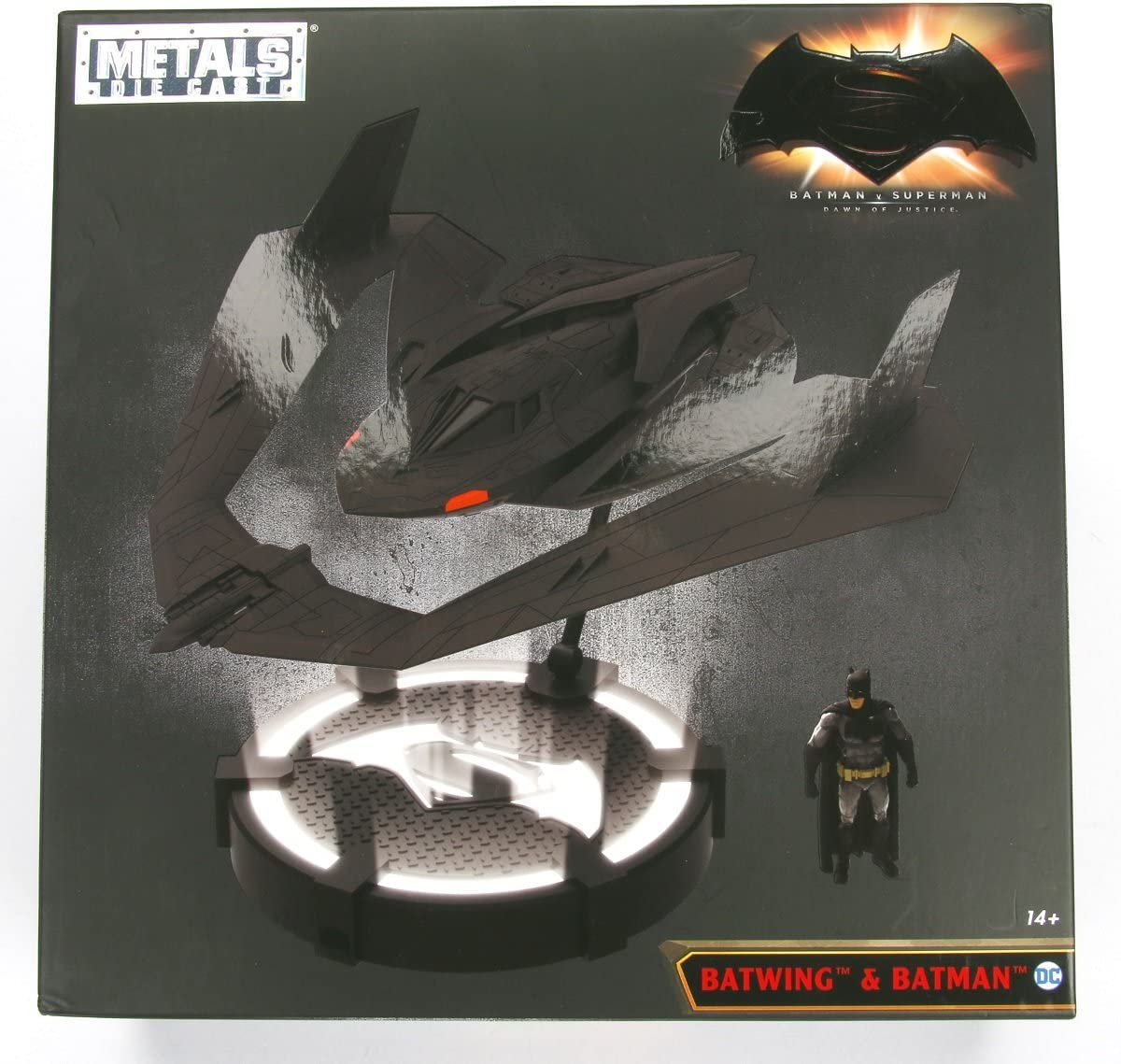 JADA 98325 1//32 BATMAN VS SUPERMAN BATWING avec figurine