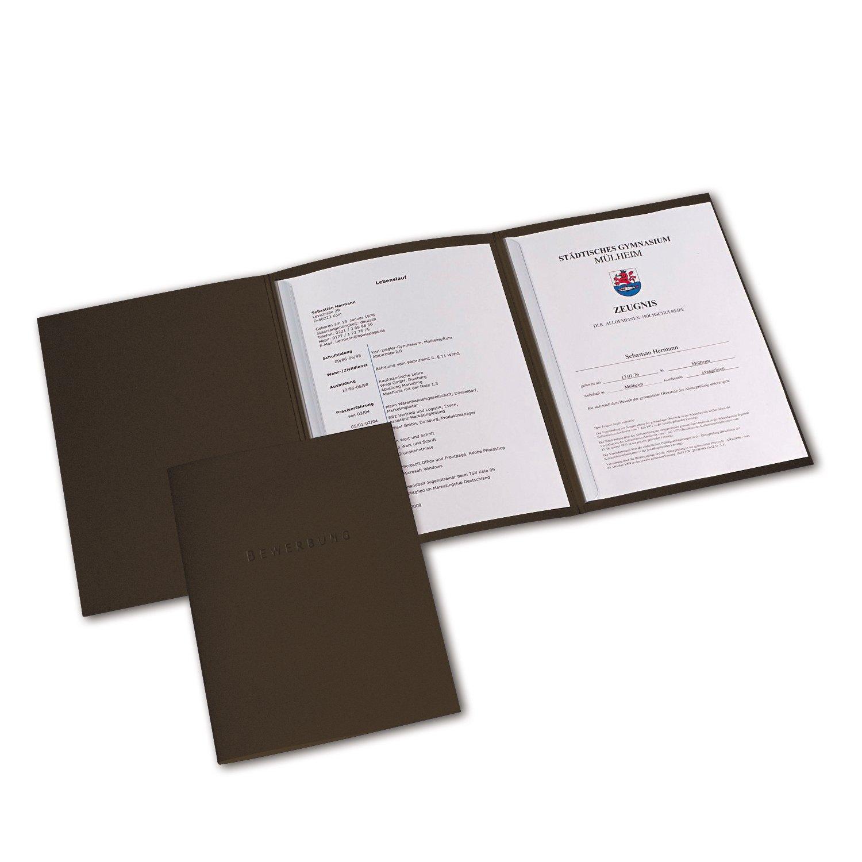 ELBA 400013674 Bewerbungsmappe A4 Metallic 10er Pack 3-teilig aus Karton  mit 3 Klappen und 2 Klemmschienen ...