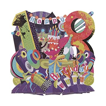 F Fityle Colorido 3D Pop Up Feliz Cumpleaños Tarjetas De ...