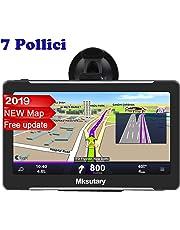 Mksutary GPS per Auto, Schermo di Navigazione, LCD Touch Capacitivo, Memoria RAM da 256 MB, ROM da 8 GB, Mappa GPS di 51 Paesi, Navigatore per Auto e Aggiornamenti Delle Mappe a Vita