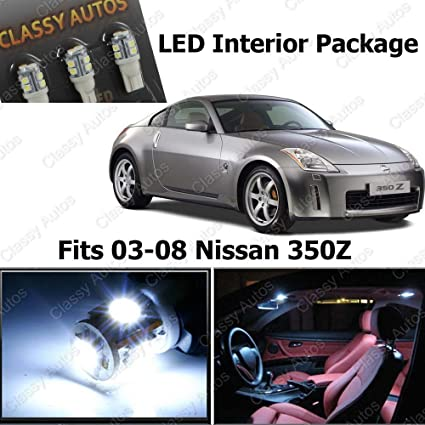 Amazon Classy Autos Nissan 350z White Interior Led Package 5