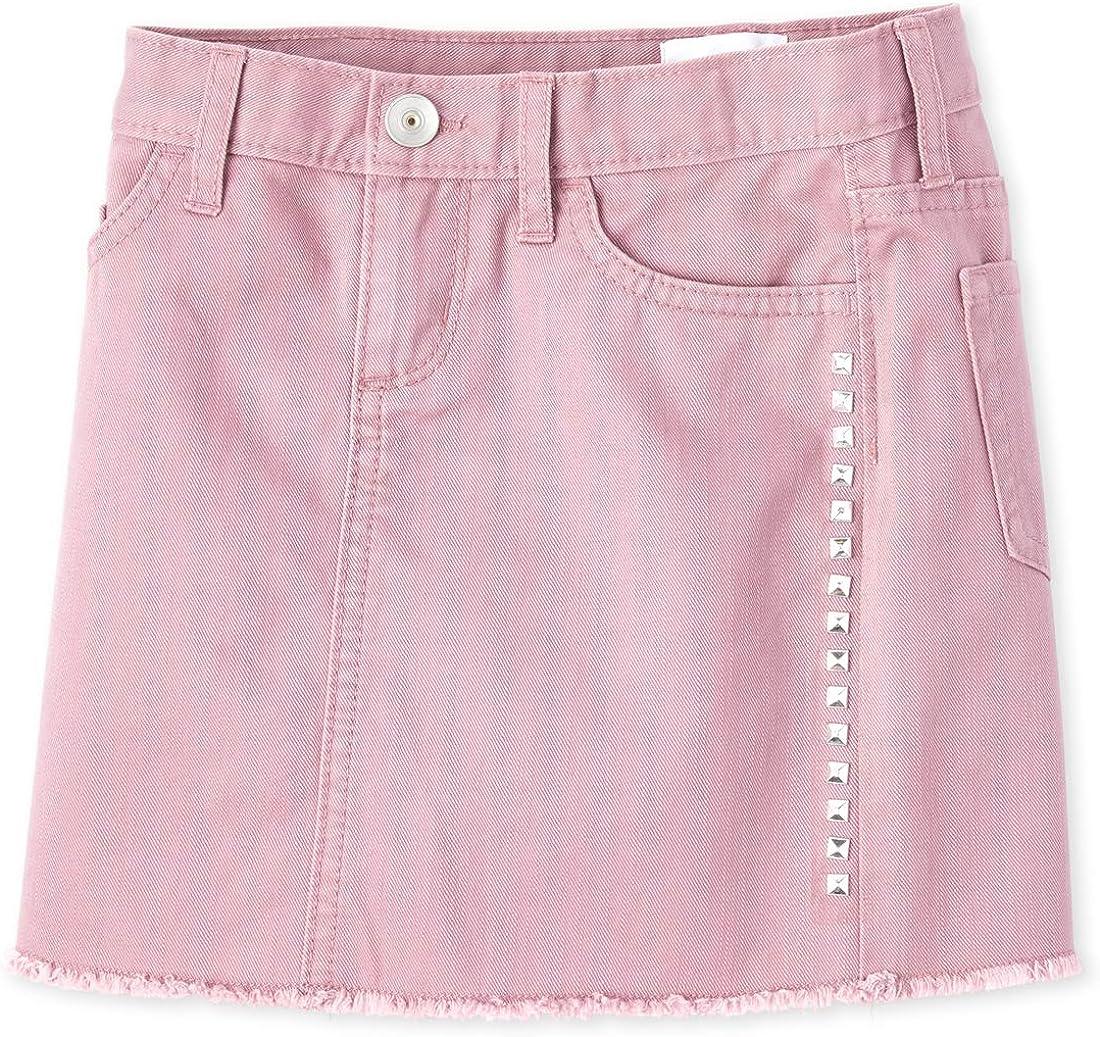The Childrens Place Girls Big Denim Studded Skirt