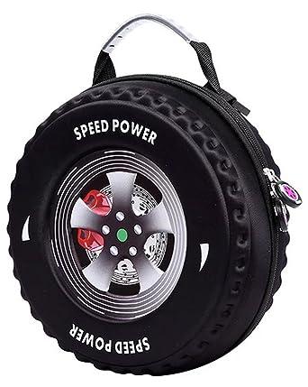 Amazon.com: 3d Dibujos Animados Coche Tire Forma Mochila ...