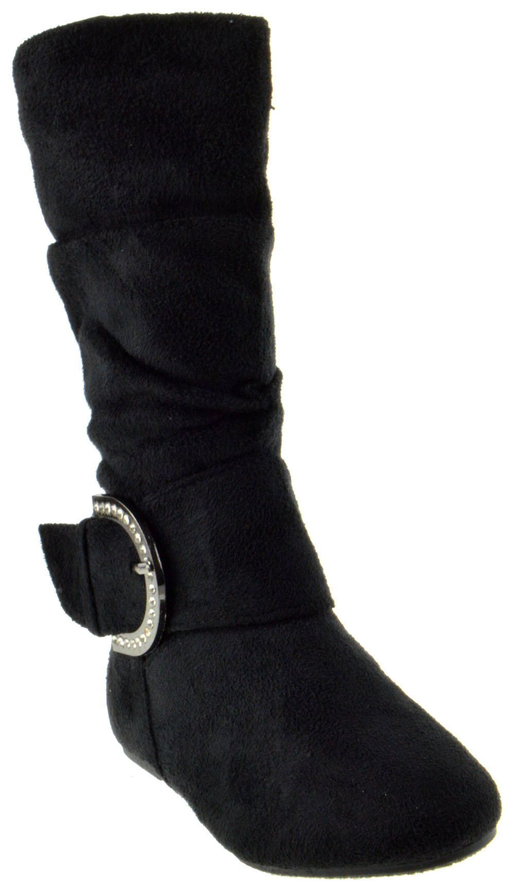 Bella 66 Little Girls Slouch Mid Calf Boots Black 7