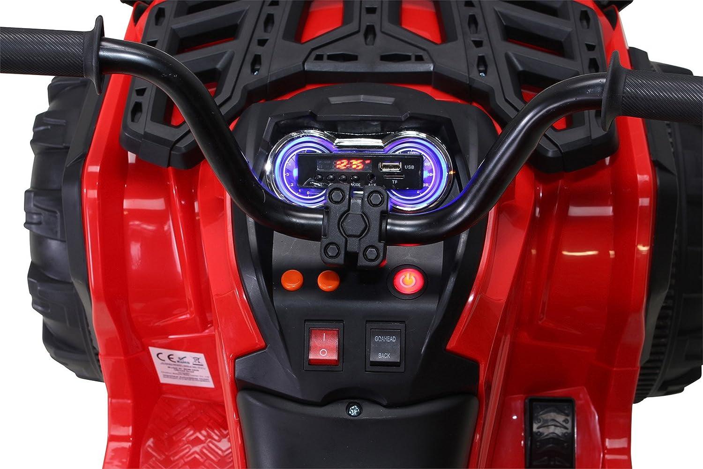 Gr/ün Actionbikes Kinder Elektro Quad Offroad 2 x 35 Watt