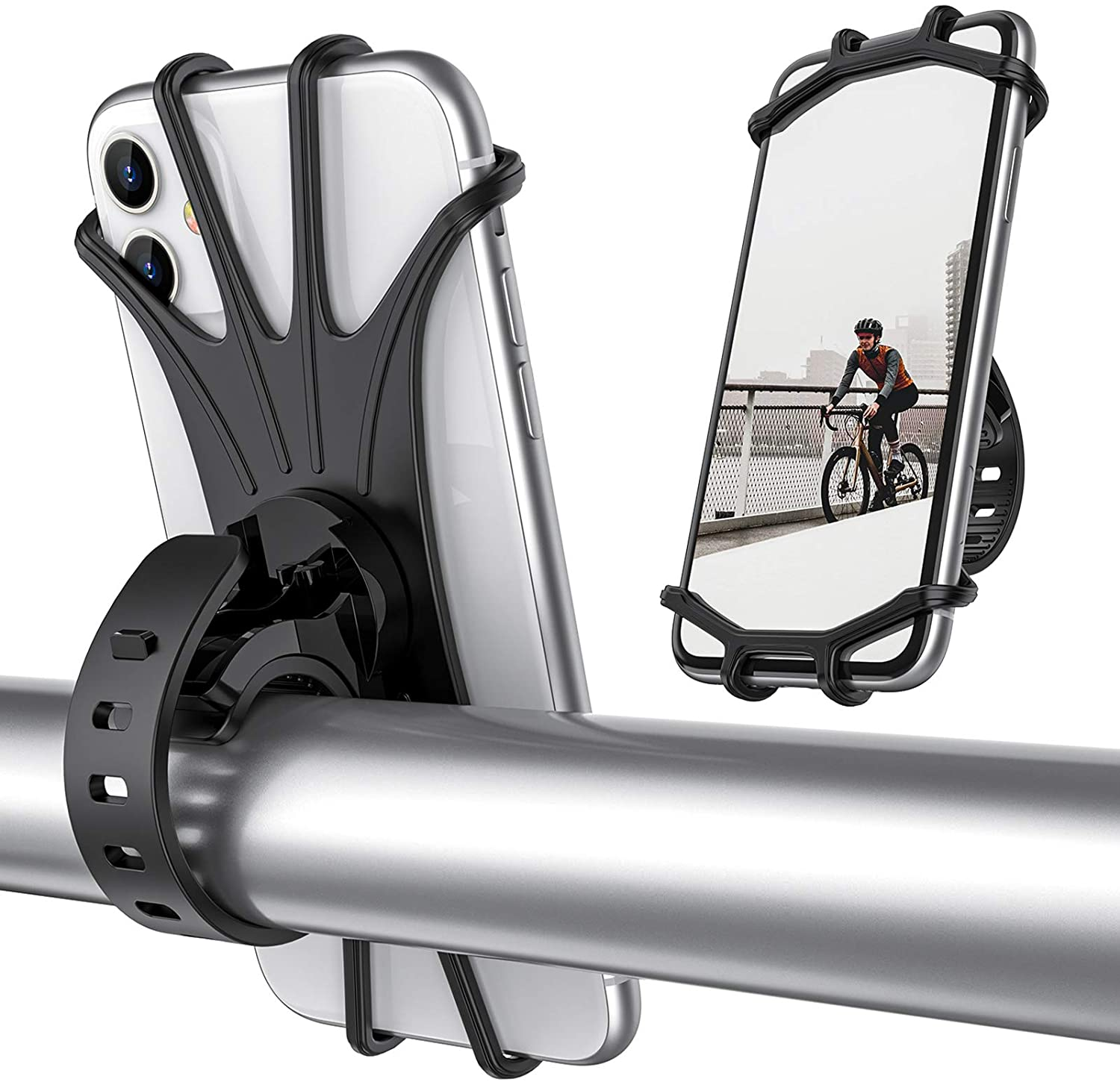 FSD-MJ 360 Rotating Waterproof Bike Phone Holder Bag Motorcycle Stand Sport Move Moto Outdoor Support for All Smartphone