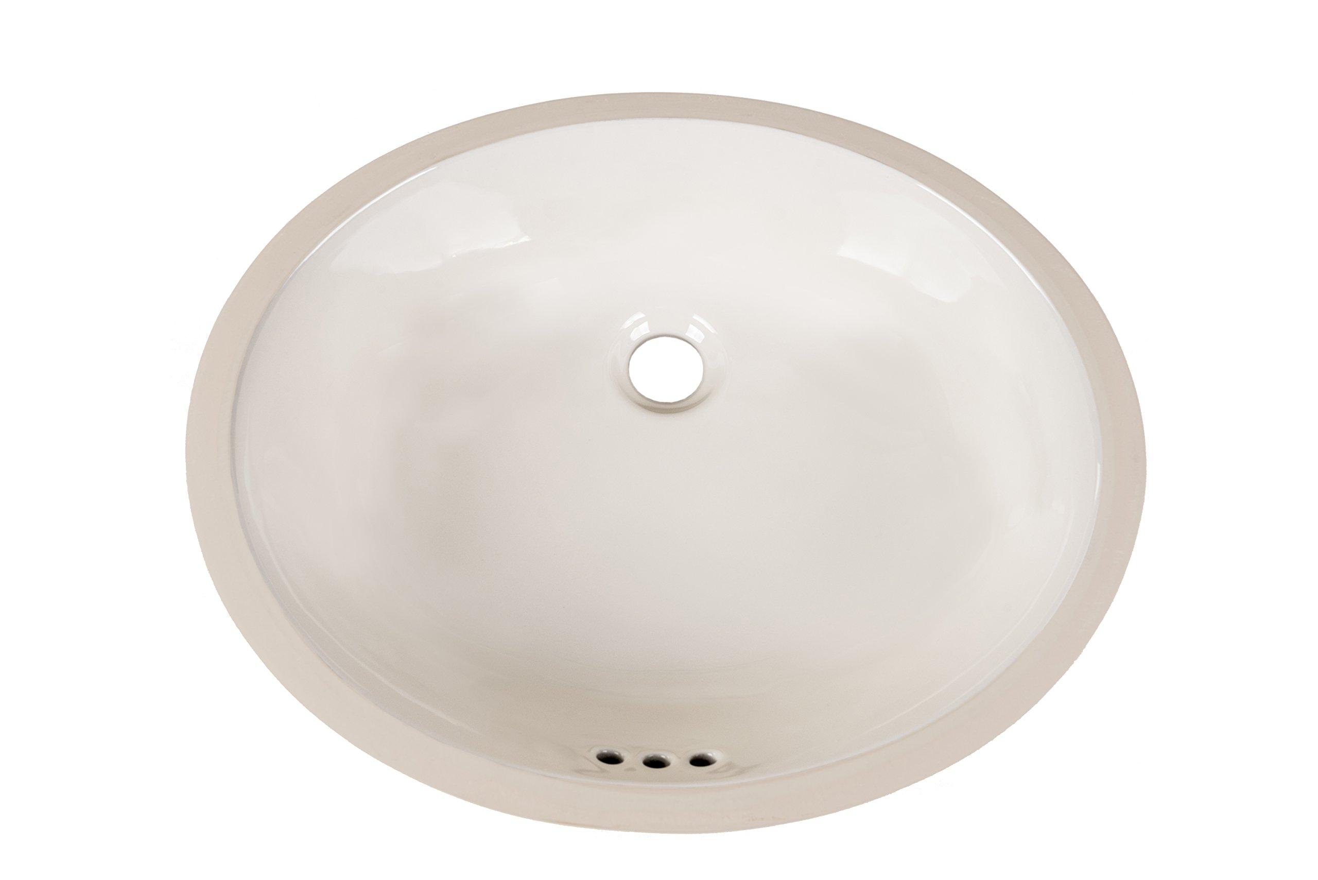 20'' Oval Undermount Ceramic Bathroom Vanity Sink in Biscuit YS0113
