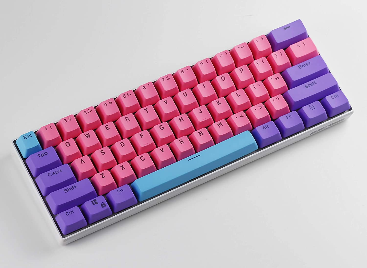 Suitable for Cherry MX Switch 60/% Keycaps OEM Height Doubleshot Pbt Keycaps PBT Material