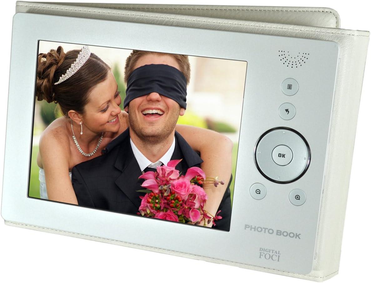 Amazon Com Digital Foci Photo Book Pbk 080 8 Inch Portable Digital Photo Album Pearl White Digital Picture Frames Camera Photo