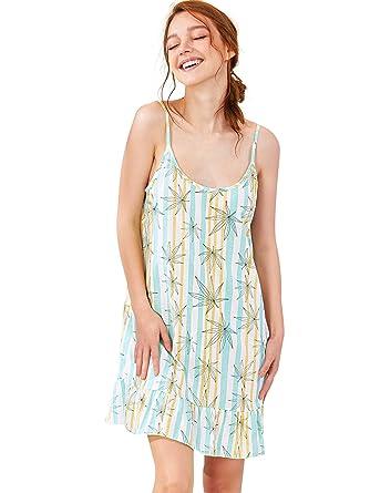 SheIn Women s Ruffle Hem Spaghetti Strap Cami Dress Nightdress Medium  Green 41f11ac888