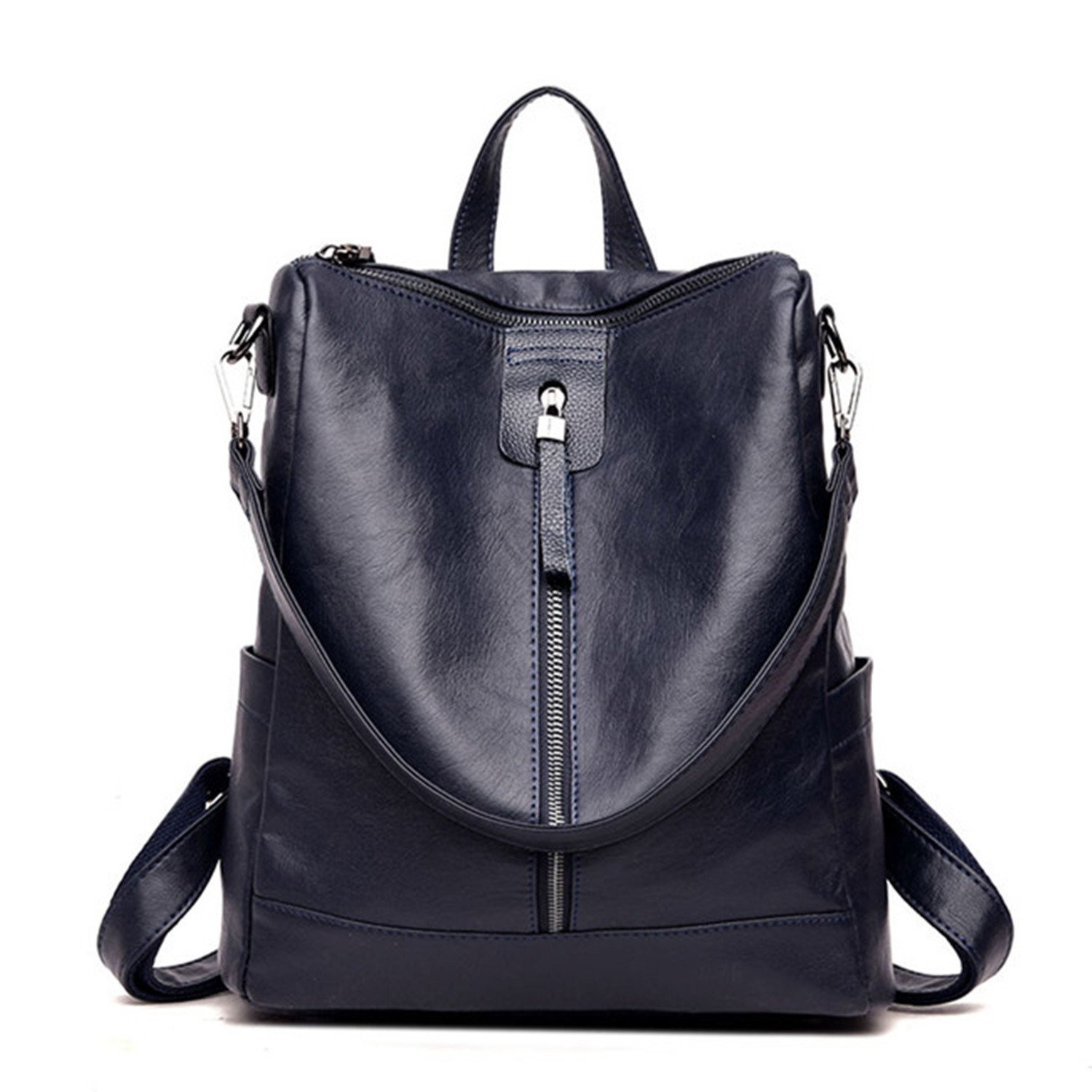Amazon.com: Pajamasea Fashion Multifunction Women Backpack Pu Leather School Bags For Teenager Girl Casual Shoulder Bag Female Black 12 Inches: Shoes