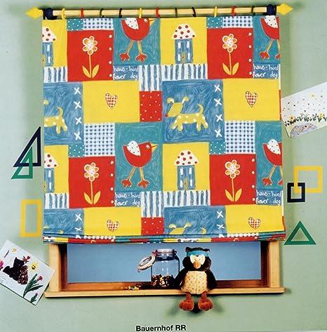 Infantil Cortina Cortina o Estor opaco infantil cortina Granja con casa perro Corazón Flor Pájaro –