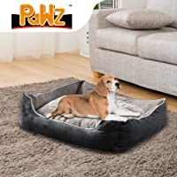 PaWz Pet Bed Dog Beds Mattress Bedding Cover Calming Cushion Grey M 70x60x22cm 70x60x22cm