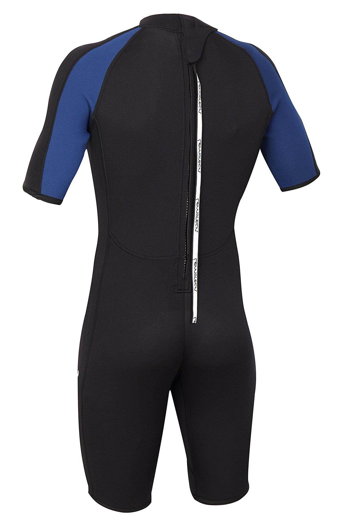 Lemorecn Wetsuits Mens Premium Neoprene Diving Suit 3mm Shorty Jumpsuit(3035,2XL) by Lemorecn (Image #2)