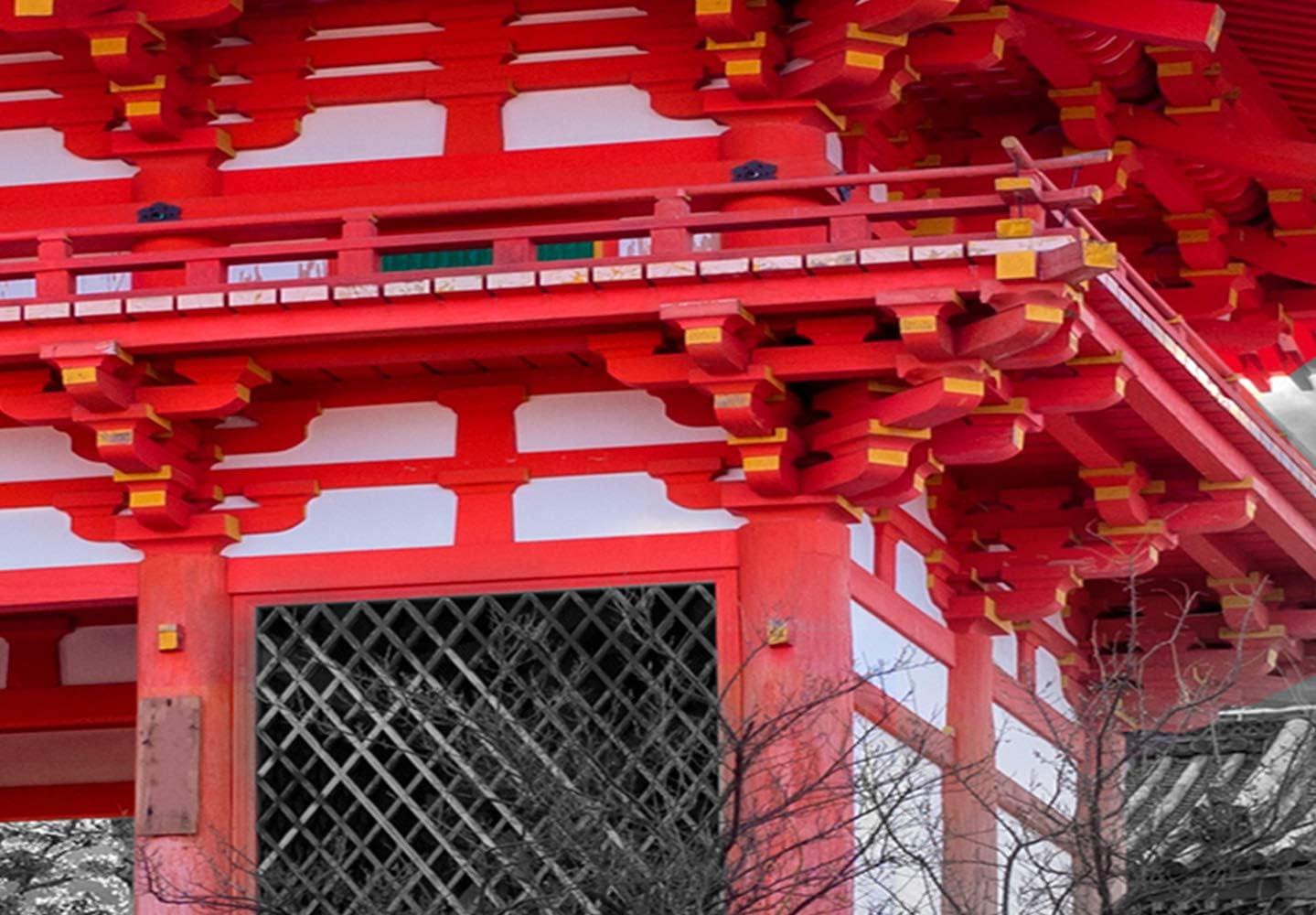 murando Cuadro en Lienzo Japon Jap/ón 70x35 cm impresi/ón en Material Tejido no Tejido impresi/ón art/ística fotograf/ía Imagen gr/áfica decoraci/ón de Pared Templo Japones c-C-0241-b-a