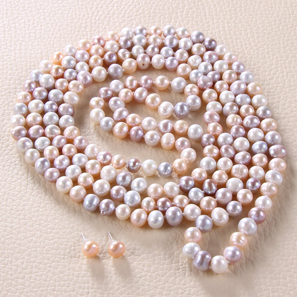 Colliers de perles de culture deau douce Rolicia avec bo/îte-cadeau