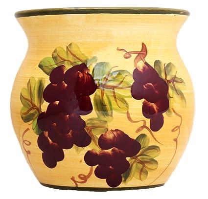 ACK Tuscany Grape Kitchen Decor Tart Burner/warmer Hand Painted