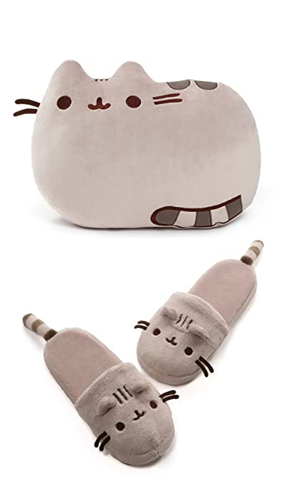 be1df12d1e9 Image Unavailable. Image not available for. Color  GUND Large Pusheen 2  Sided Pillow Bundle with Classic Pusheen Slippers