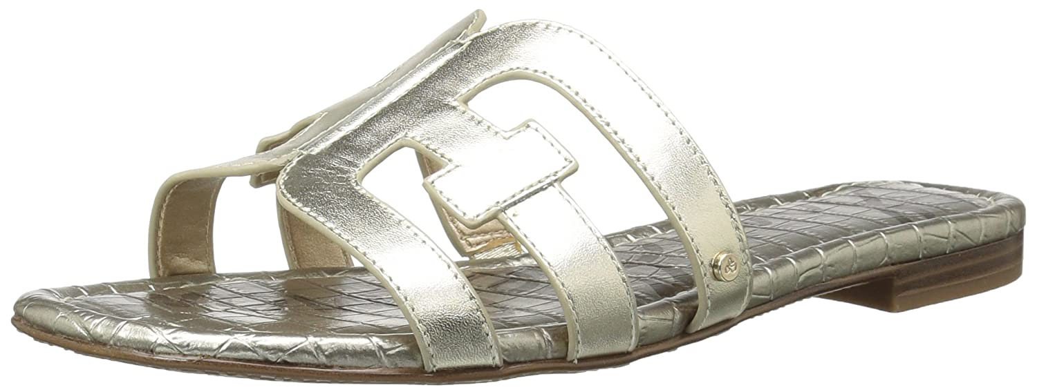 Sam Edelman Women's Bay Slide Sandal B0762SXHGT 6.5 B(M) US|Jute Metallic Leather