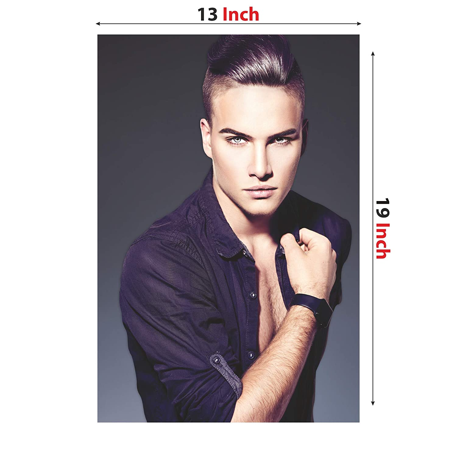Anne Print Solutions High Fashion Model Man Stylish Haircut Hair Style Without Frame For Spa Wall Decor Beauty Salon Poster Pack 1 Pcs Size 13 Inch X 19 Inch Multicolour Amazon In Office Products
