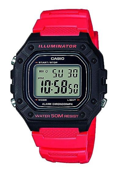 Casio Reloj Digital para Hombre de Cuarzo con Correa en Resina W-218H-4BVEF: Amazon.es: Relojes