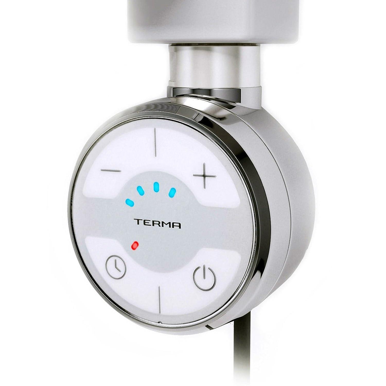 Kit conversion radiateur rail /à serviette /él/ément /électrique thermostatique chrome 1000W avec minuteur