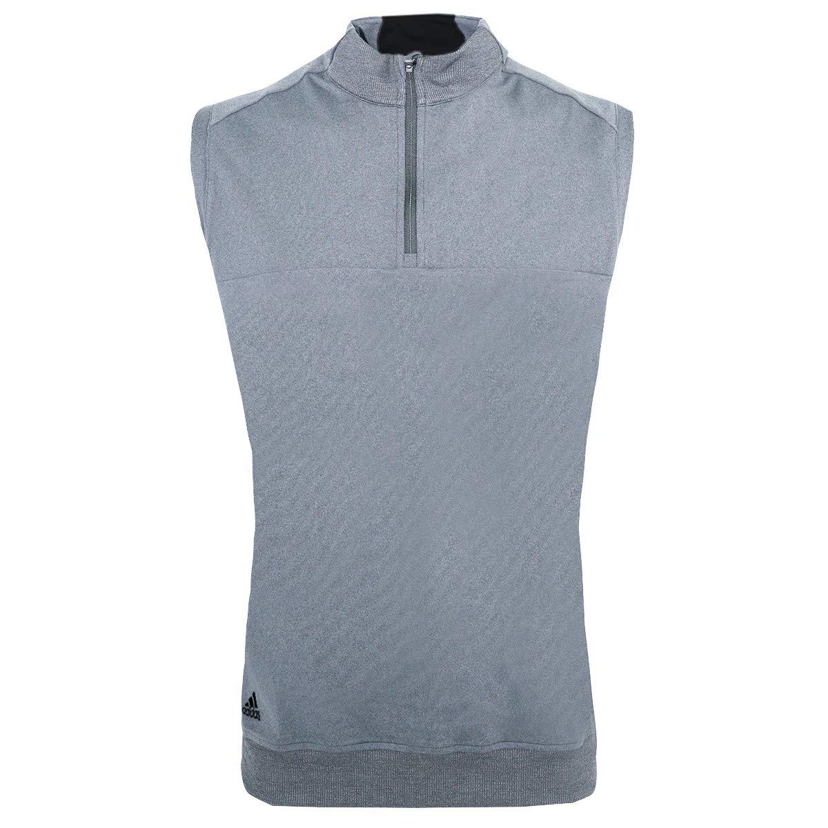 adidas Golf Mens Quarter-Zip Club Vest (A271) -Vista Grey -S