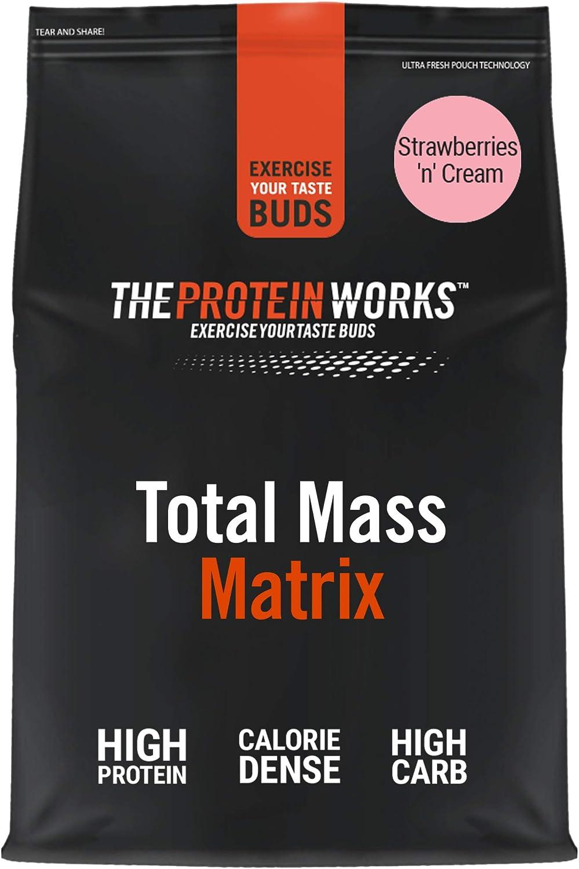THE PROTEIN WORKS Total Mass Matrix | Ganancia Muscular | Para Ganar Masa| Fresas con Nata | 2kg
