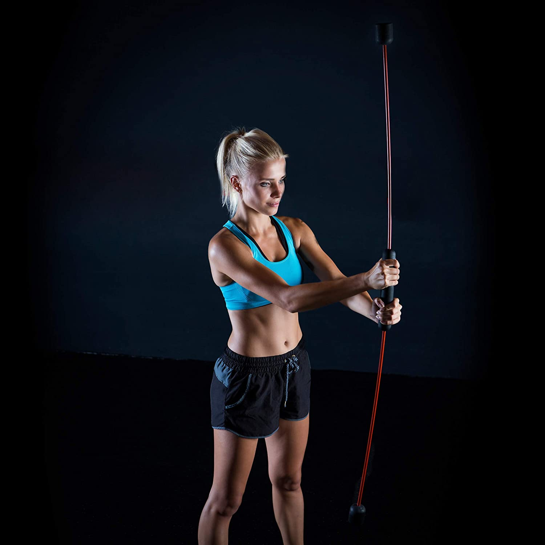 flexibel Relaxdays Erwachsene Swingstick 160 cm Fitness Schwingstab f/ür Vibrationstraining /& Tiefenmuskulatur rot 1 St/ück Fiberglas