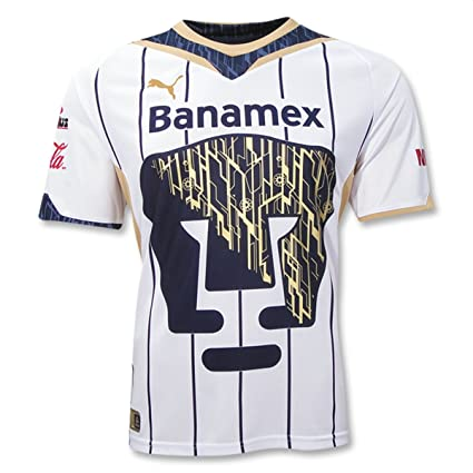 5e8bb985bde Amazon.com   Pumas 10 11 Home Soccer Jersey   Sports Fan Soccer ...