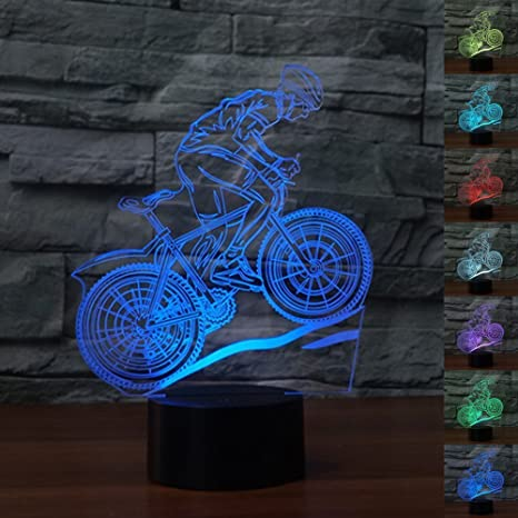Led Motorcycle Illusion Led Nightlight 3d Motorcycle Model Table Lamp 7colors Changing Atmosphere Touch Lamp Modern Decor Elegant In Style Led Table Lamps
