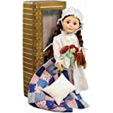 The Queen's Treasures Officially Licensed Little House on the Prairie Laura Ingalls 18'' Doll. Includes Quilt/Pillow, Rag Doll, Nightgown, Cap and a Log Cabin Keepsake Box. Fits American Girl Doll.