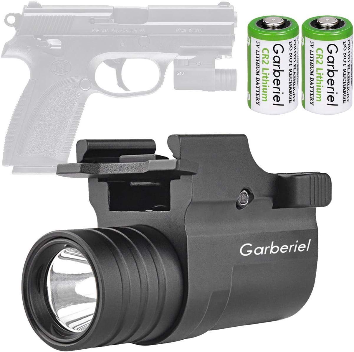 X.Store G10 LED Tactical Gun Light with Battery – 230 Lumens 2 Modes Pistol Flashlight Handgun Torch Light