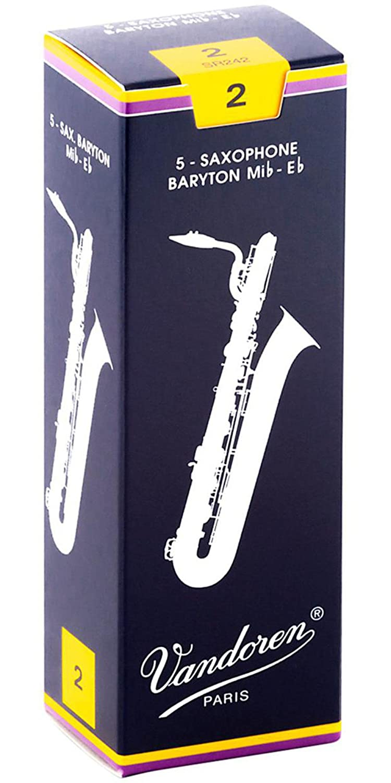 Vandoren Traditional Baritone Saxophone Reeds - #2, 5 Box