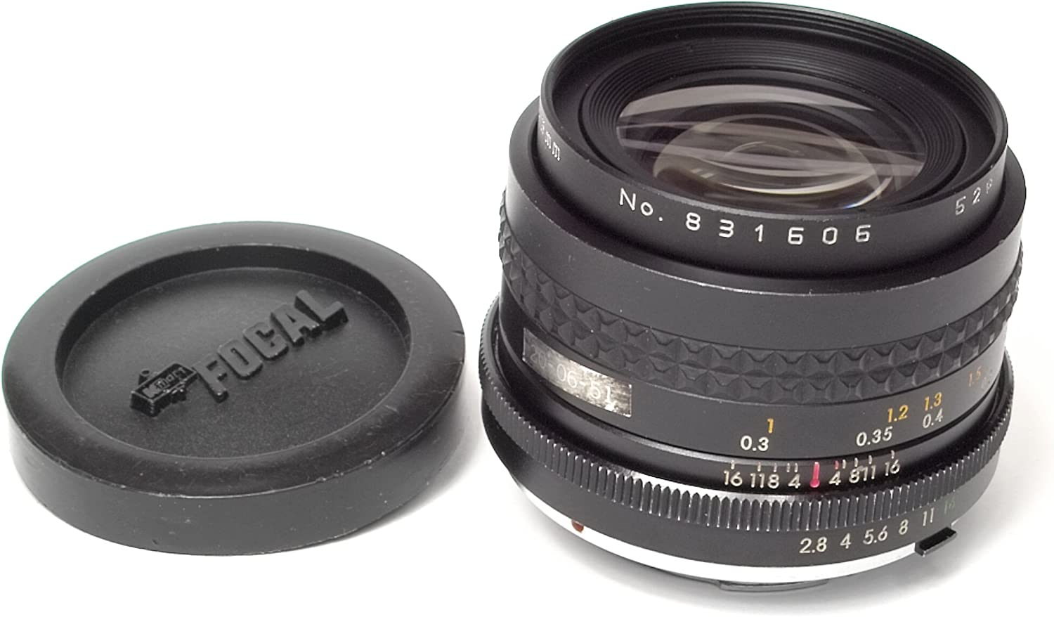 Focal MC Auto 1:2.8 55mm F=28mm Lens 536891 w// Toyo Optics Skylight 52mm