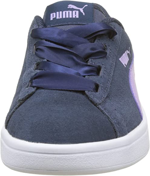 Puma Smash V2 Ribbon Jr, Scarpe da Ginnastica Basse Bambina