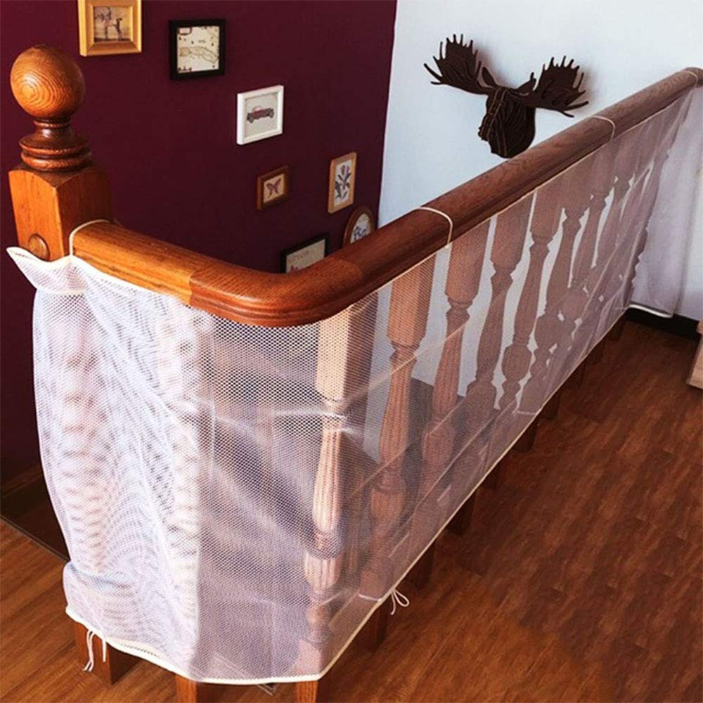 10ftx 2.5ft Stairs Plastic Protector Net,Baby Banister Plastic Safety Netting Balcony Stair Gate for Child Toddler Pet Toys,Clear