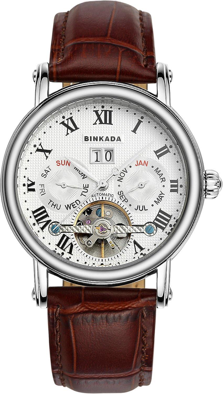 BINKADAファッション自動機械ホワイトダイヤルメンズ腕時計# 800602 – 1 B00Y6QCOIA